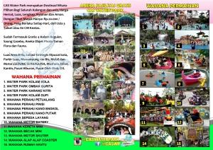 Exciting Banten Brosur Liburan Wisata CAS Water Park Cikole Pandeglang 2015 Wonderful Indonesia